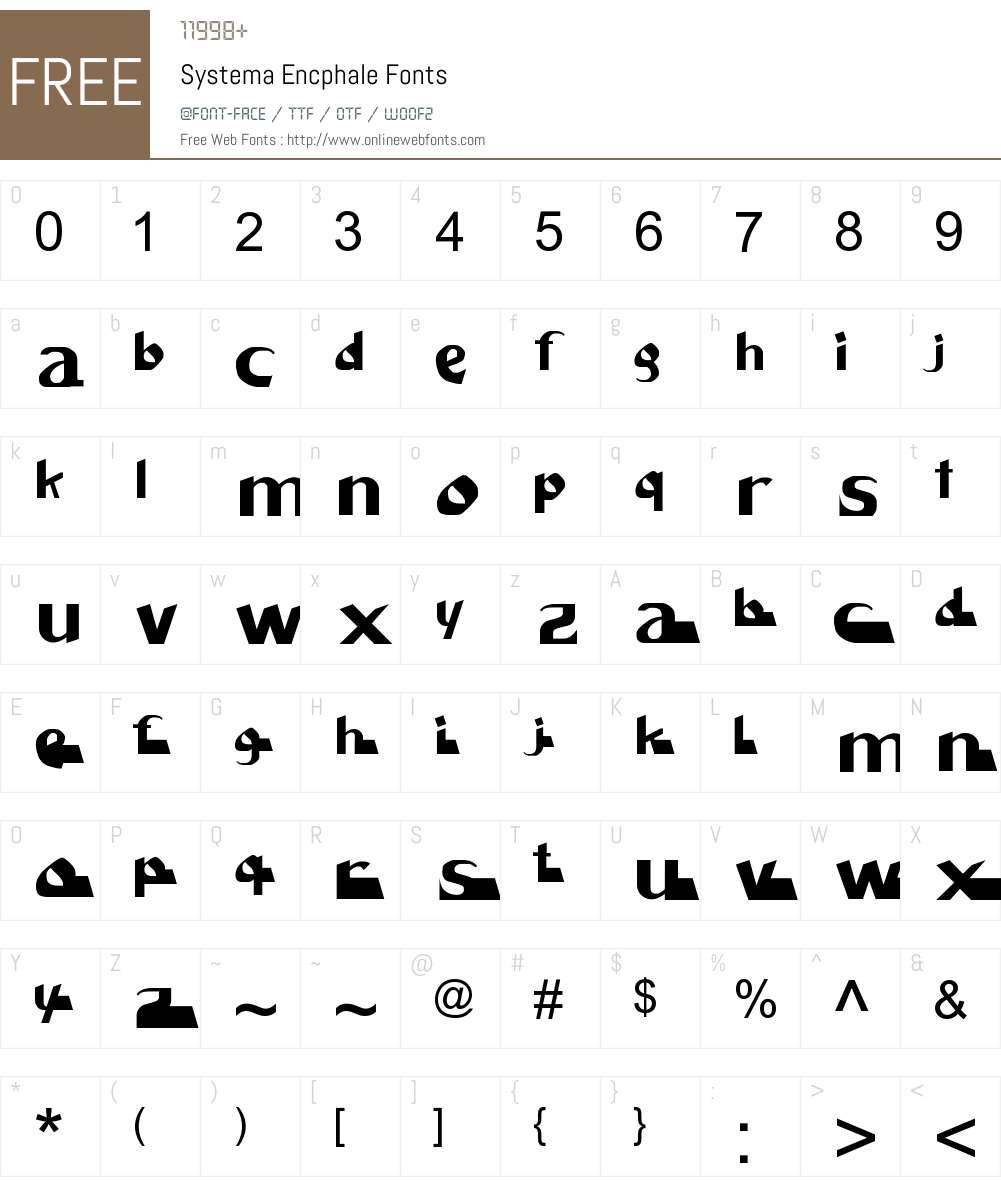Systema Encphale Font Screenshots