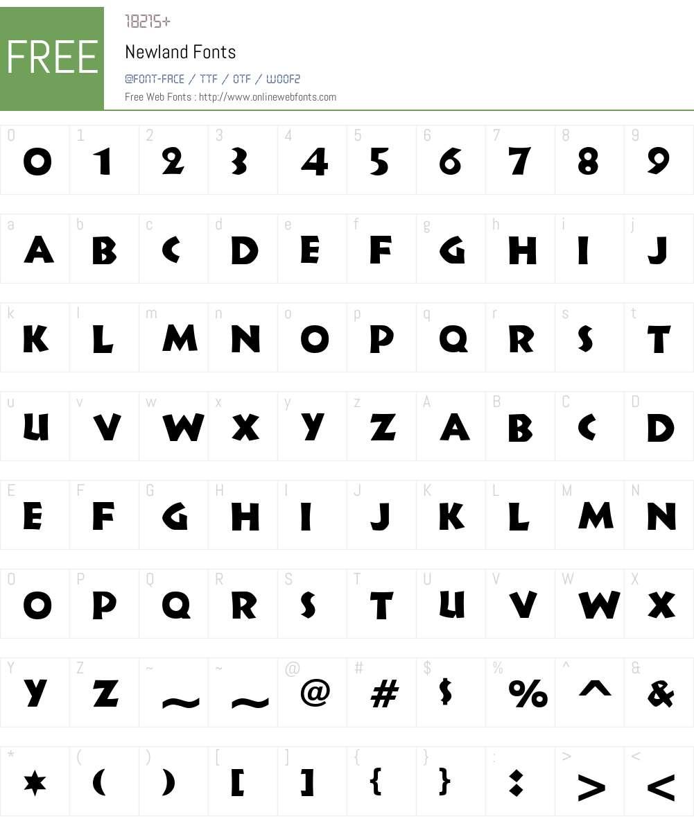 Newland Font Screenshots