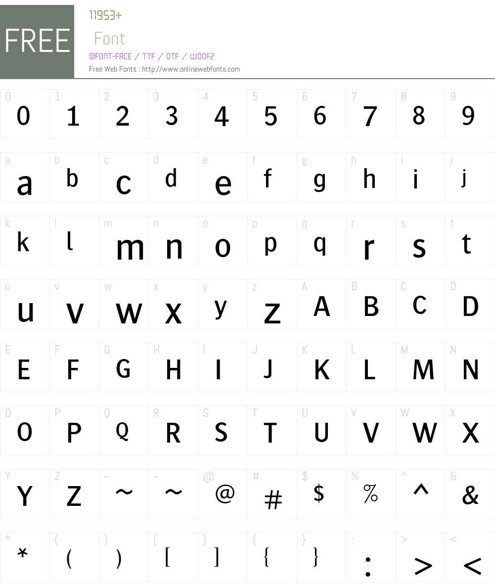 Bosis Std Font Screenshots