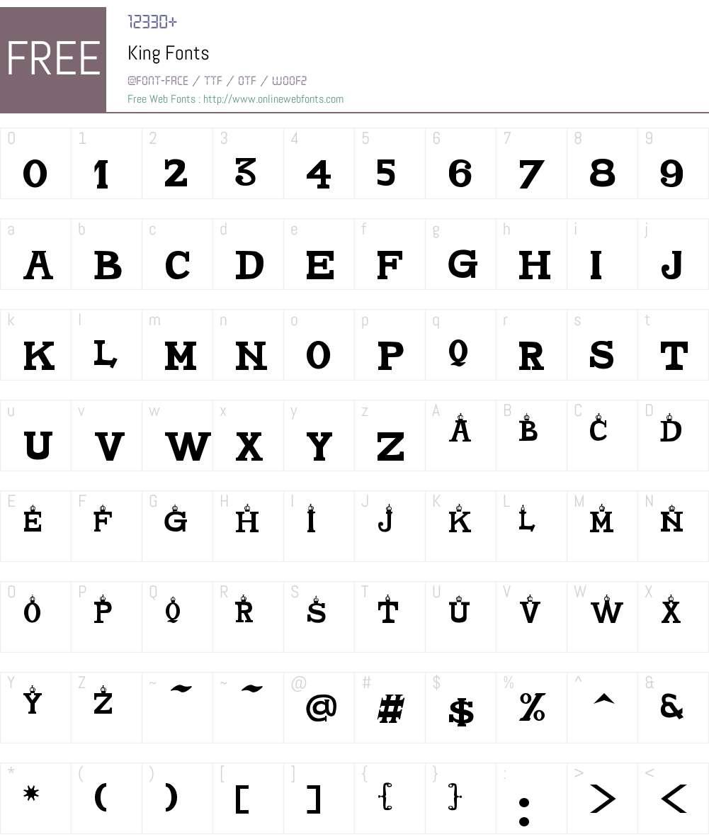 King Font Screenshots