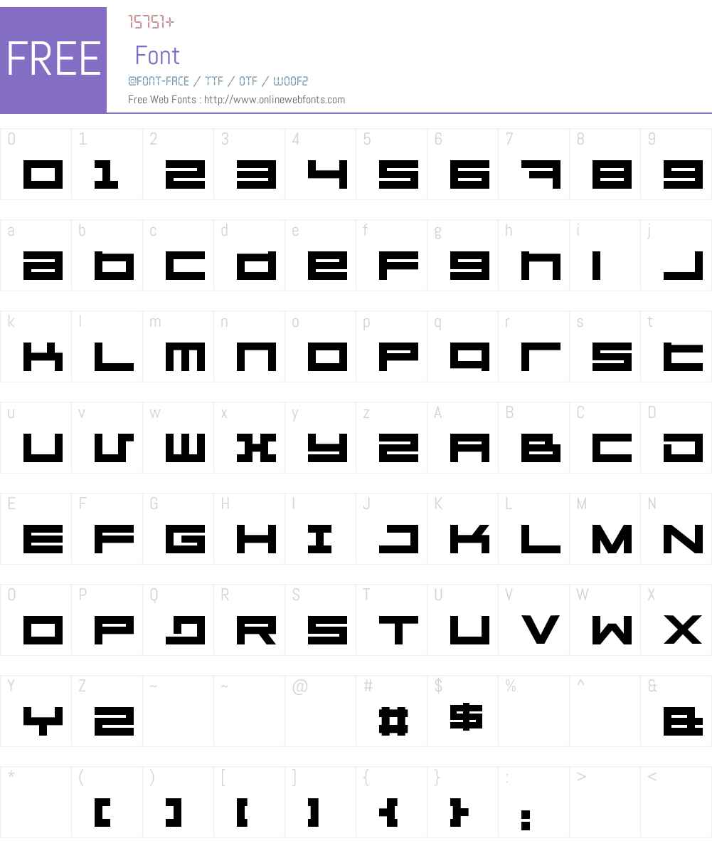 Megaton Font Screenshots