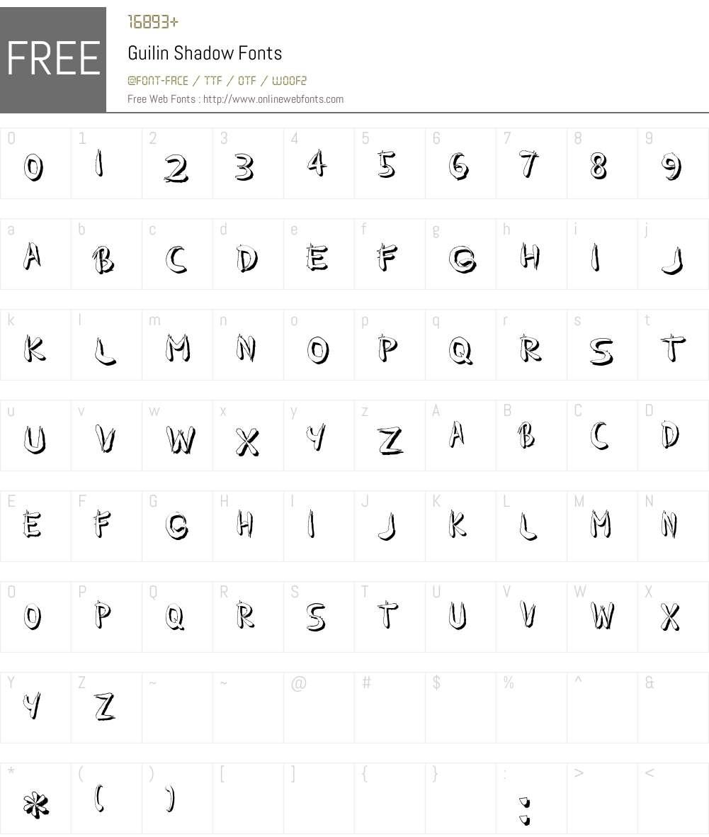 Guilin Shadow Font Screenshots