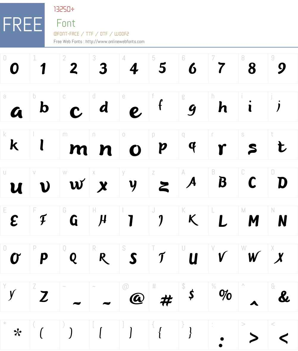 DeliciaW01-Regular Font Screenshots