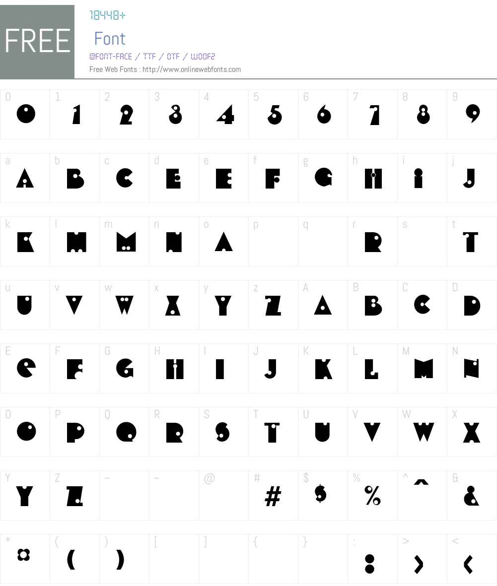 Billings Font Screenshots