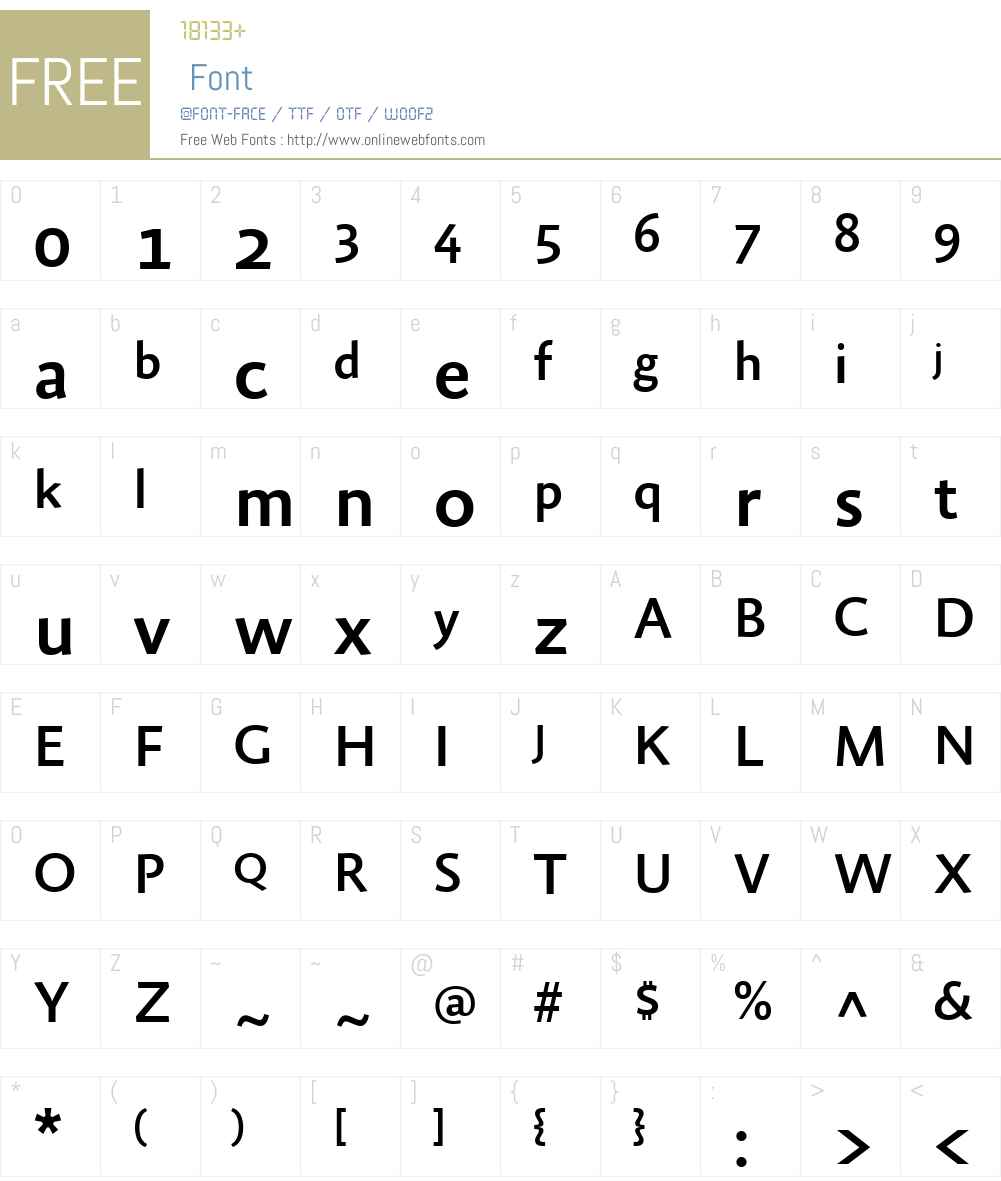 FF Absara Sans Font Screenshots