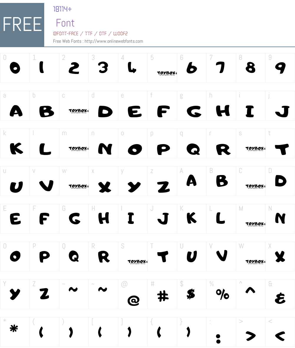 Toyc Font Screenshots