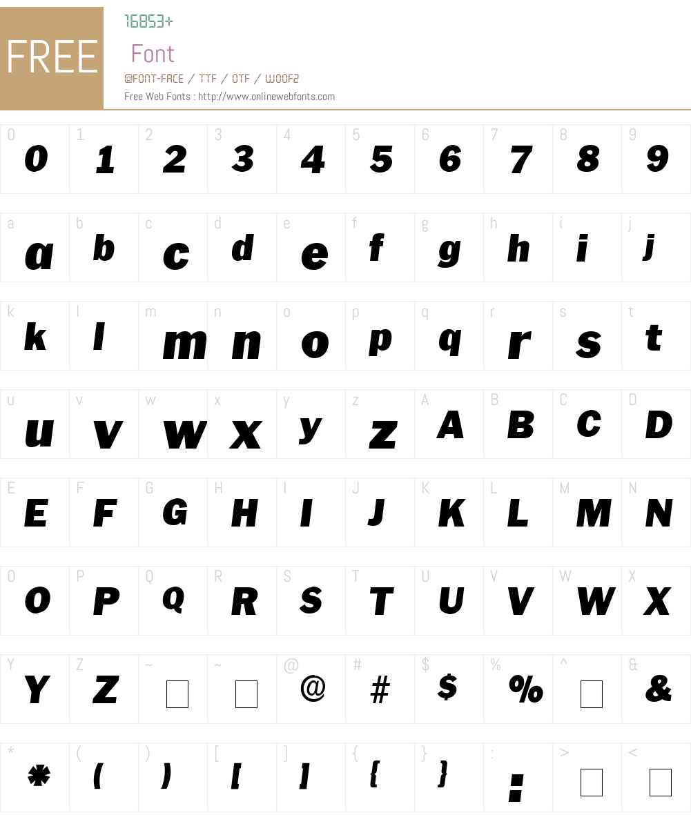 Pasch Display SSi Font Screenshots