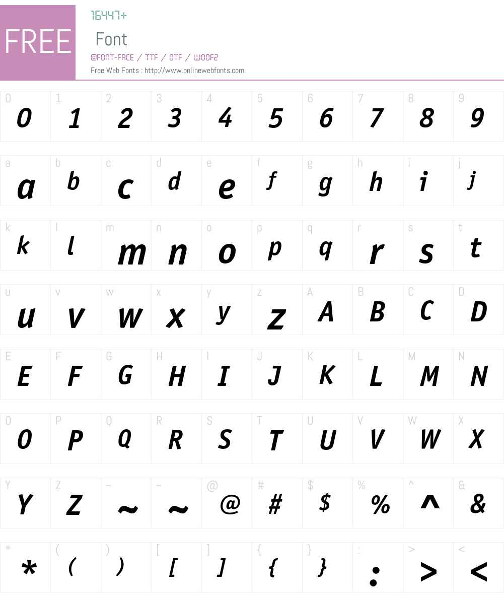 OfficinaSansITCStd Font Screenshots