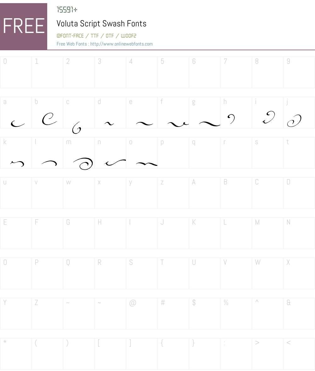 Voluta Script Font Screenshots