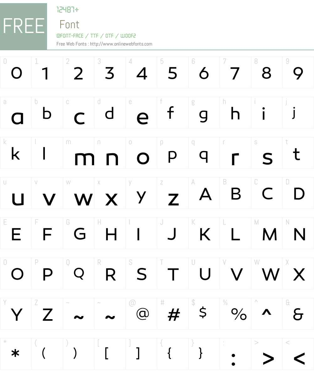 CanaroW00-Book Font Screenshots