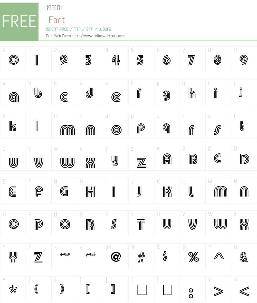 Pump Triline Font Screenshots