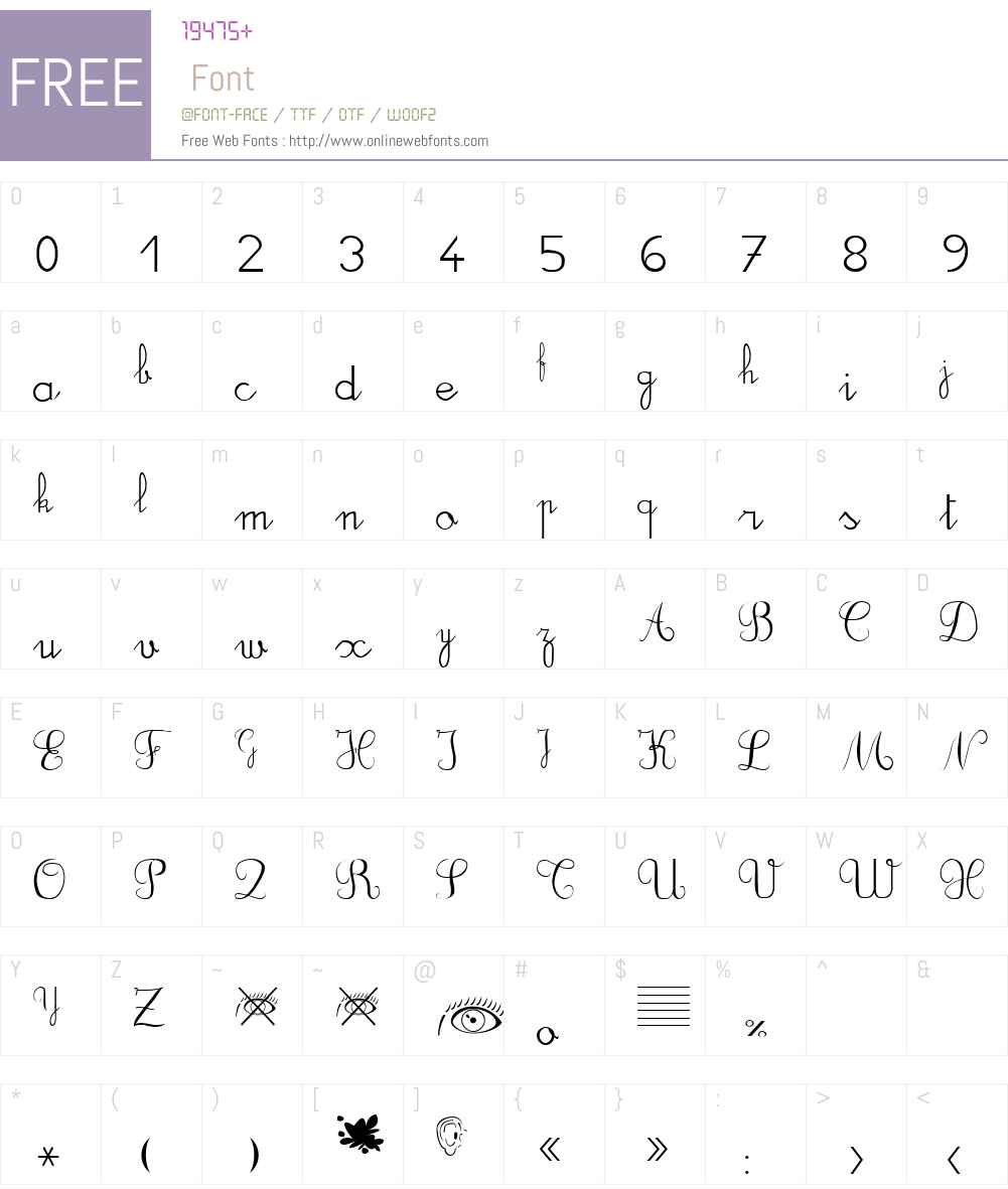 DuCahier xp Font Screenshots