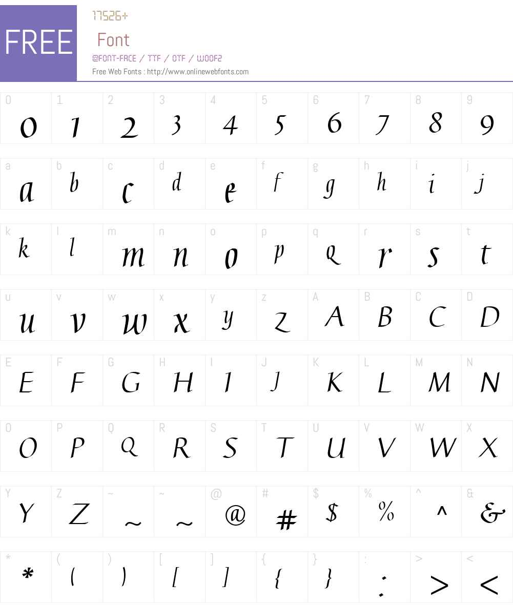 Linotype Gaius Font Screenshots