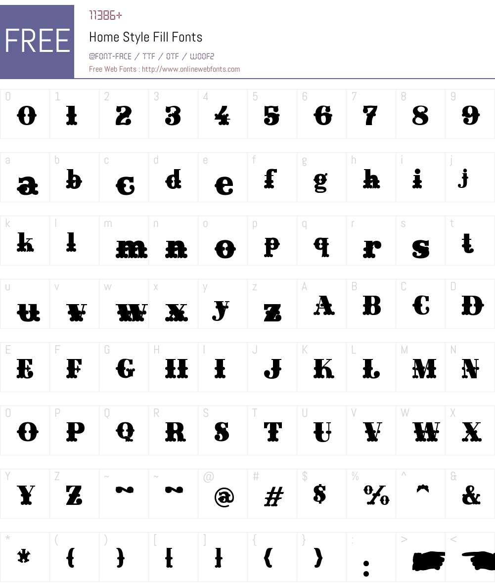 Home Style Fill Font Screenshots