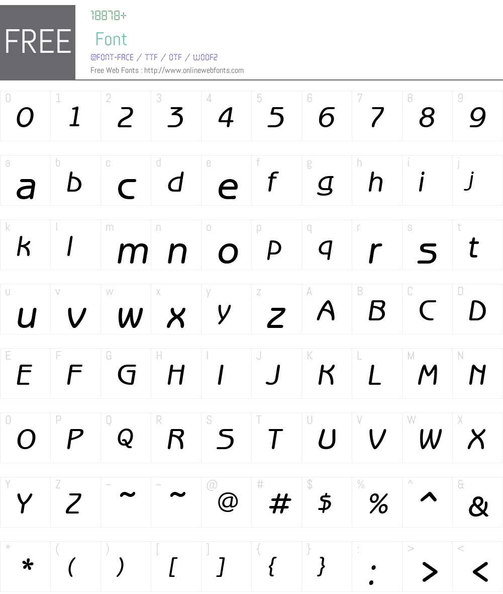 ITCBenguiatGothicW01-MedIt Font Screenshots