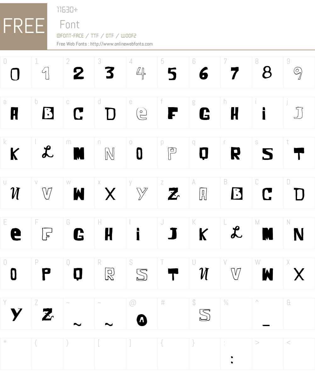 VTKS COMIC Font Screenshots