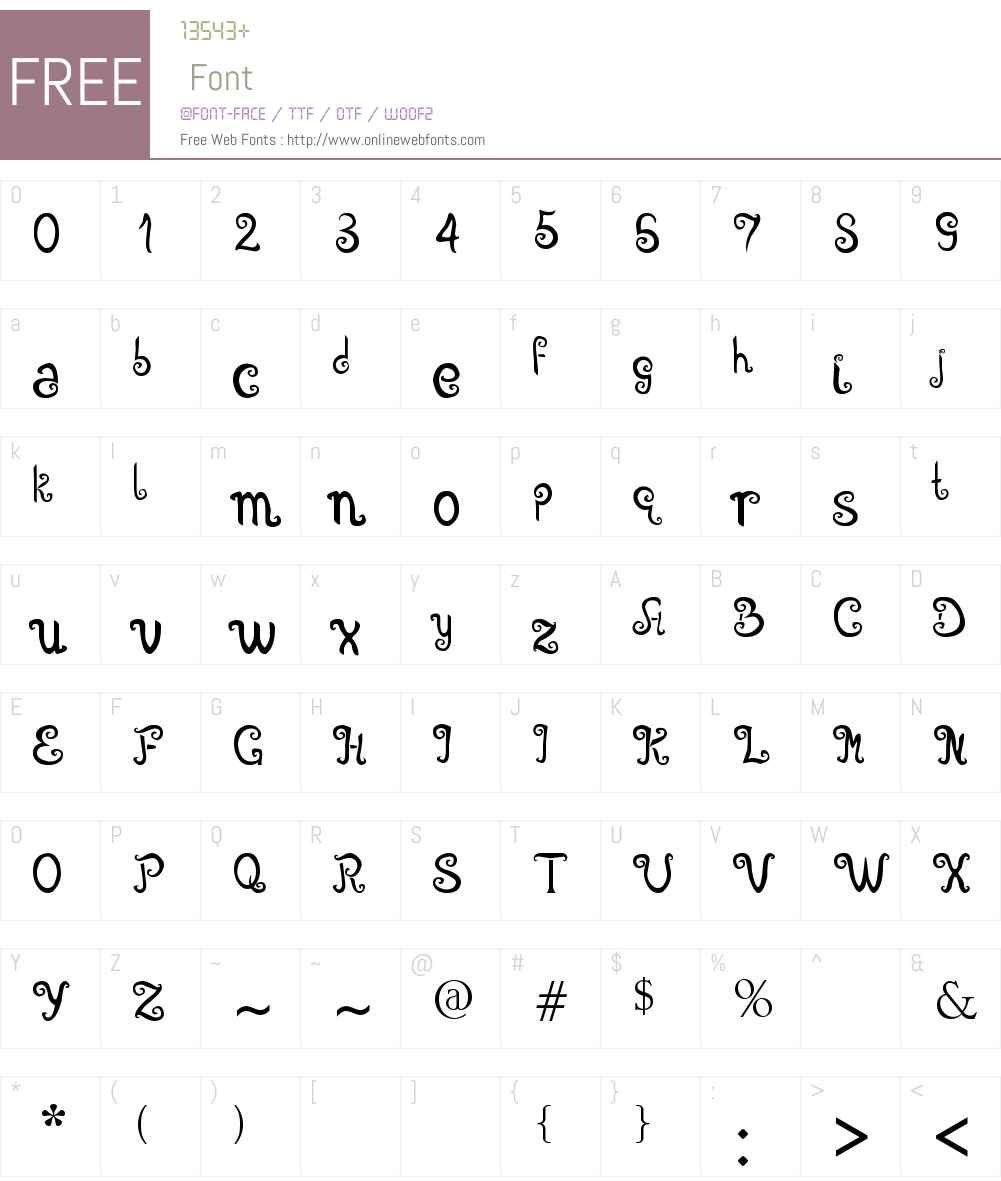 Angelova Font Screenshots