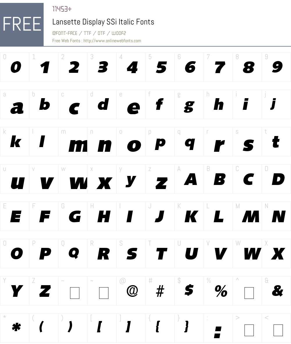 Lansette Display SSi Font Screenshots