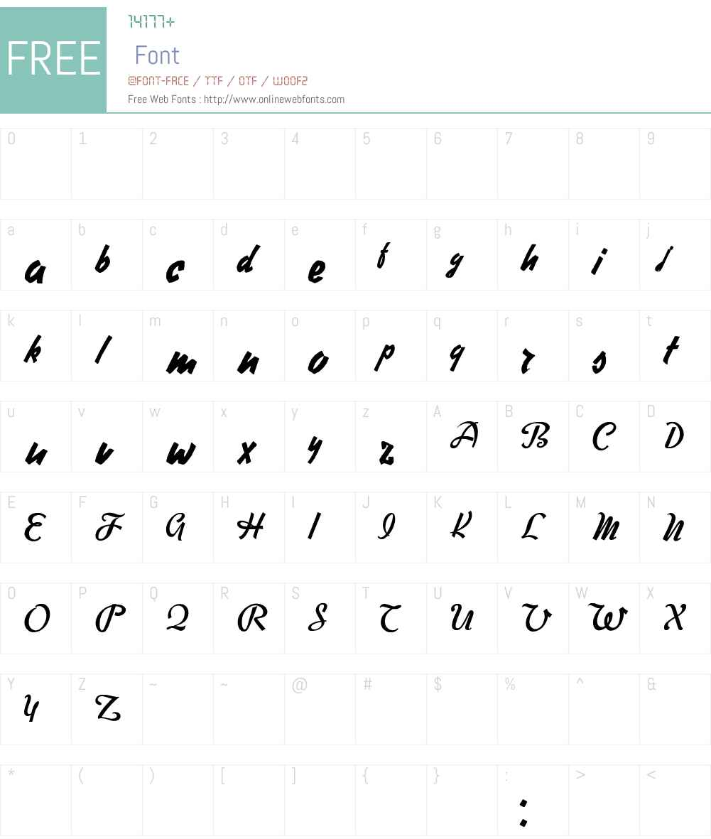 Free Writer Font Screenshots