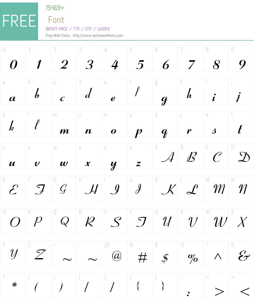 CoronetMTW01-Bold Font Screenshots