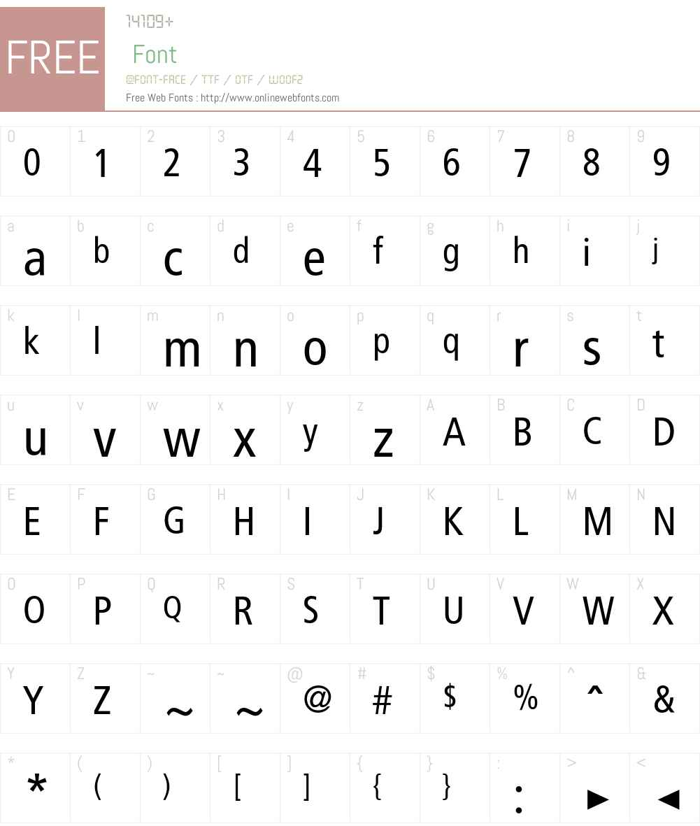 BVGNegHin Font Screenshots
