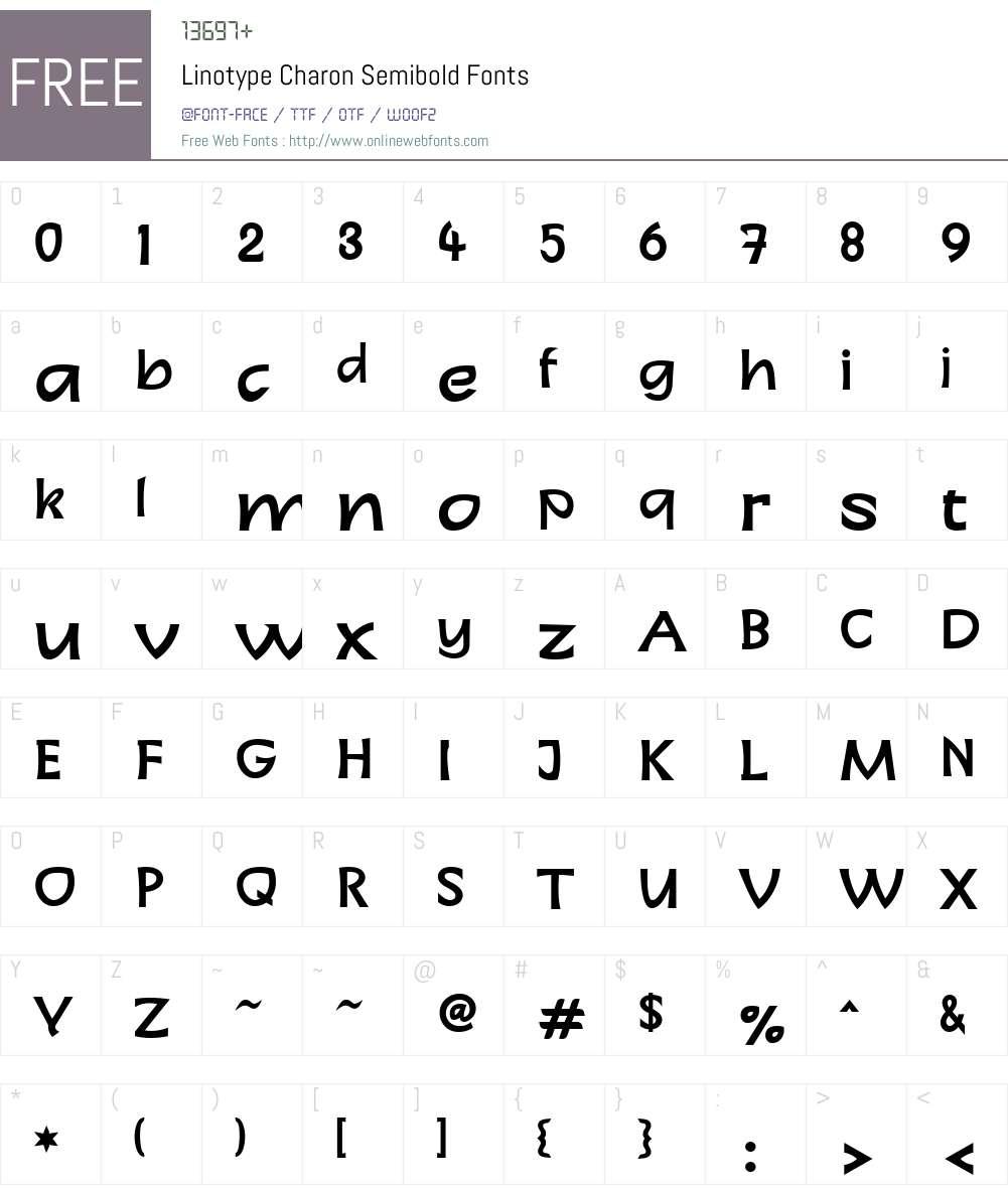LTCharon SemiBold Font Screenshots