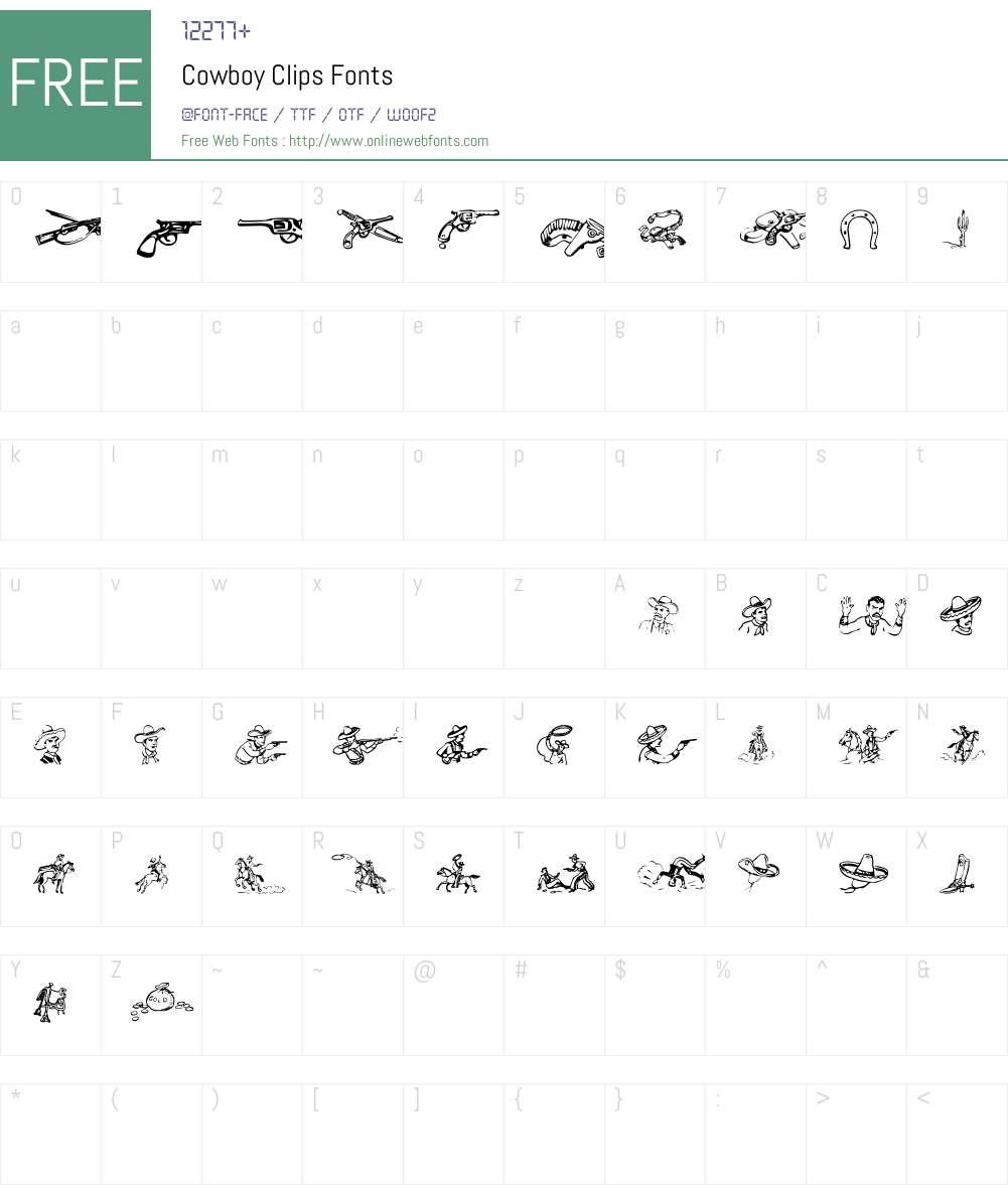 Cowboy Clips Font Screenshots
