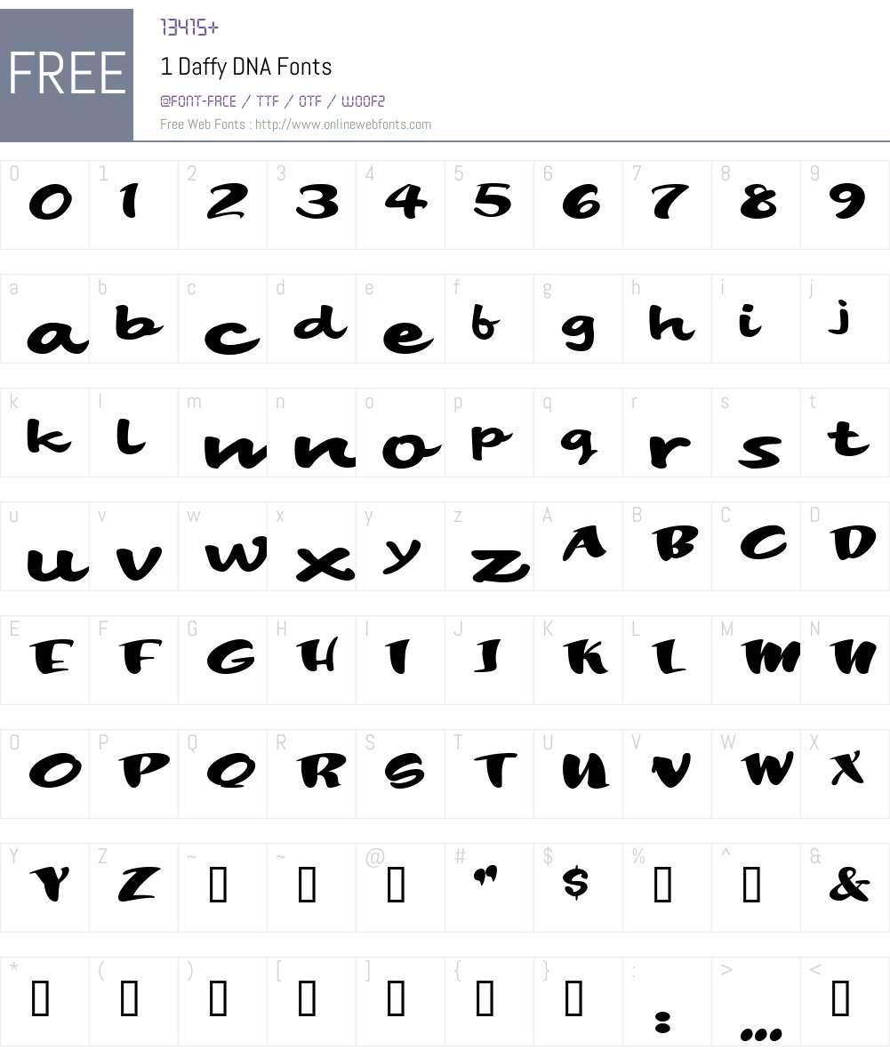1 Daffy DNA Font Screenshots