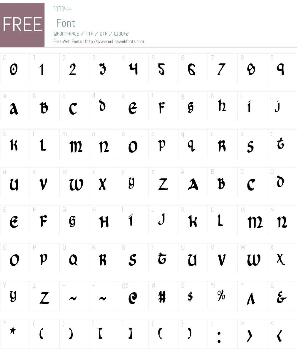 Cry Uncial Condensed Font Screenshots