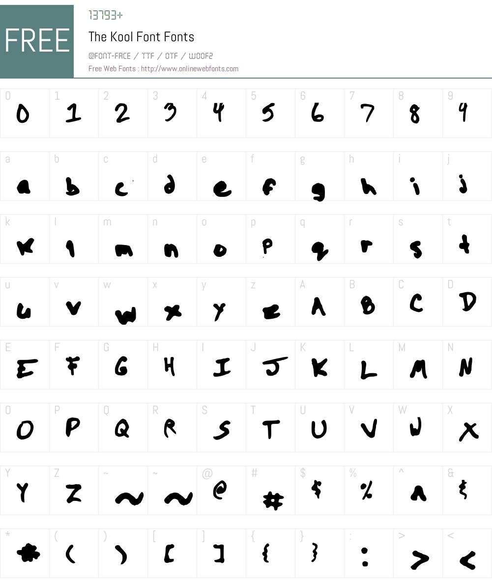 The Kool Font Font Screenshots