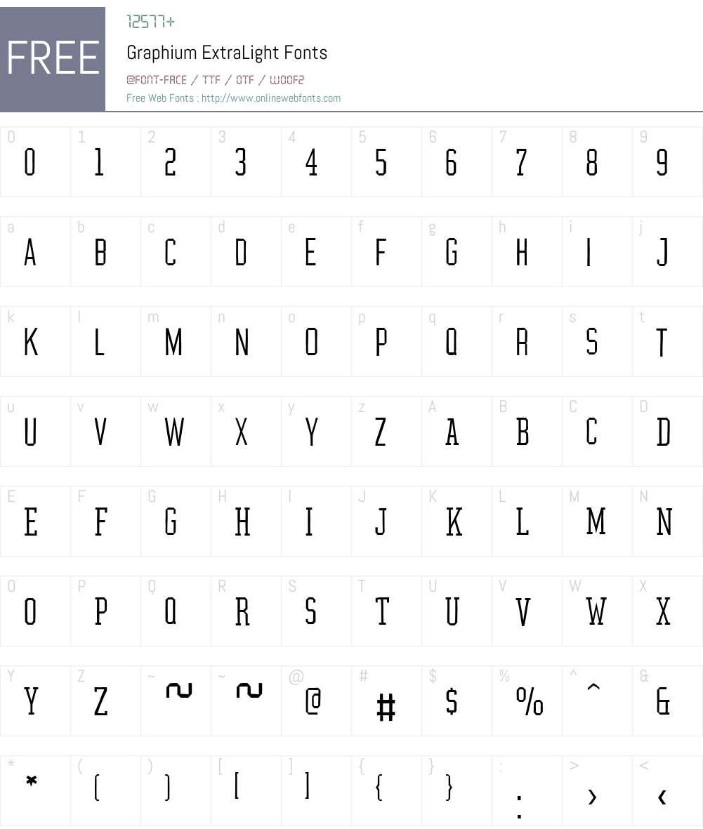 Graphium Font Screenshots