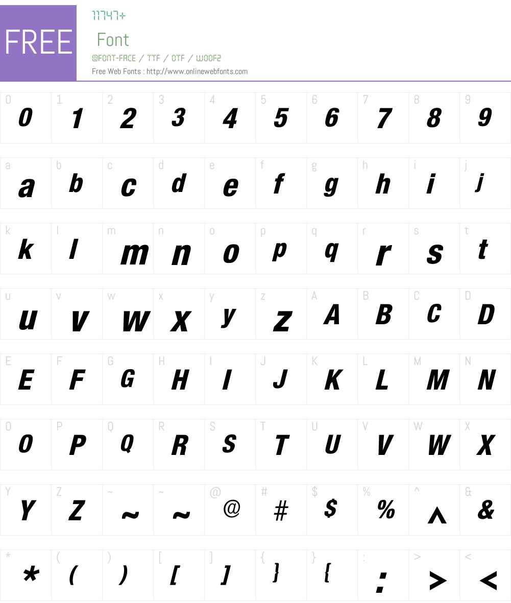 Icolnova Font Screenshots