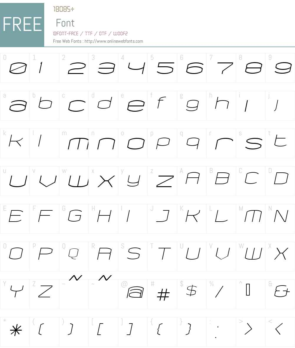 ChordItalic Font Screenshots
