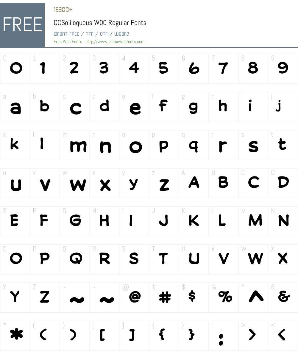CCSoliloquousW00-Regular Font Screenshots