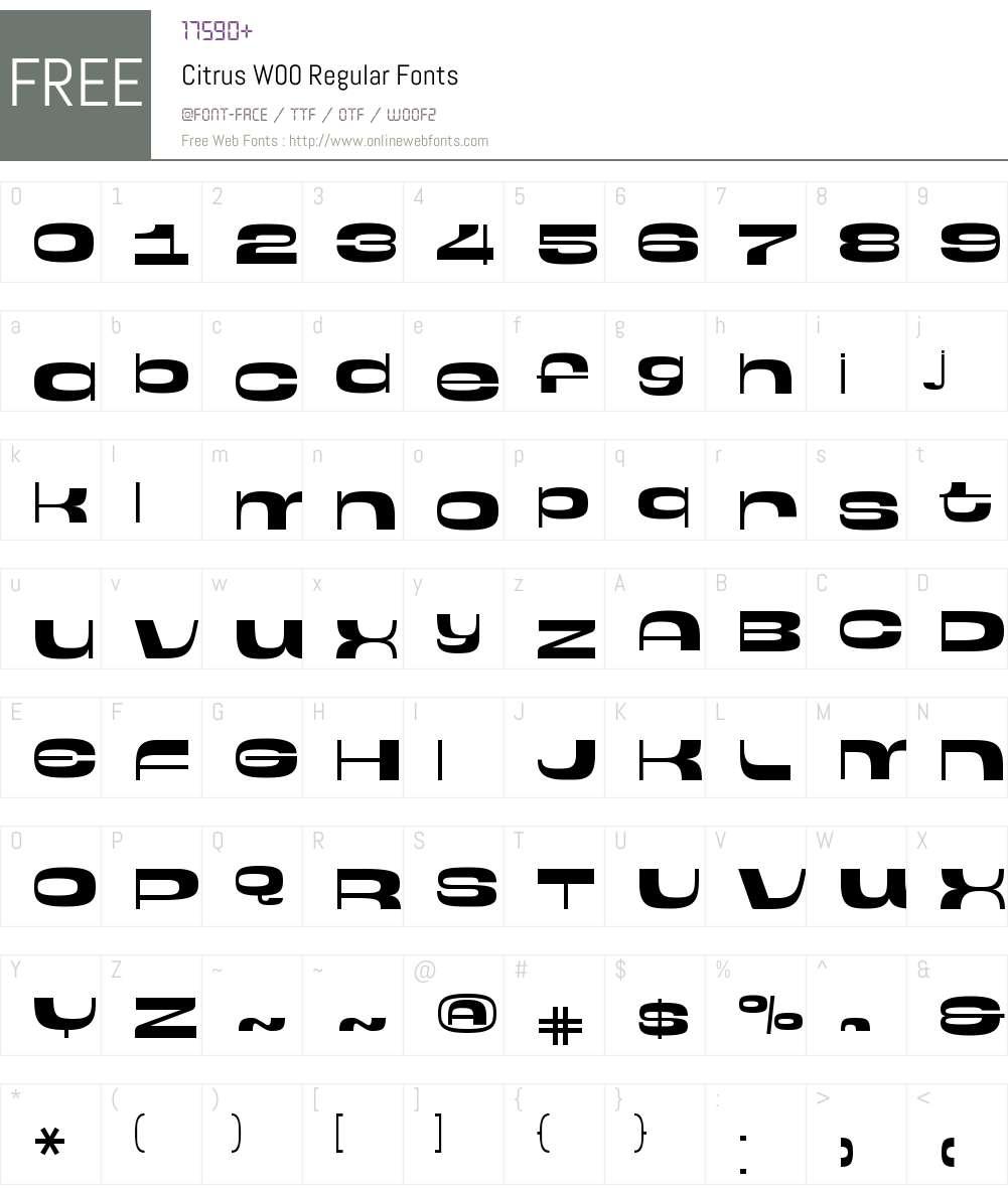 CitrusW00-Regular Font Screenshots