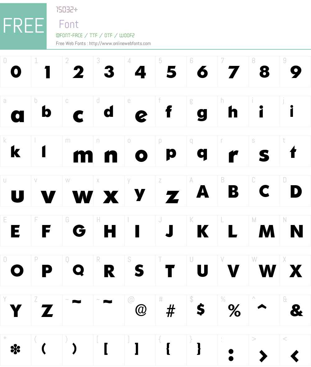 OrnitonsSerial-Xbold Font Screenshots