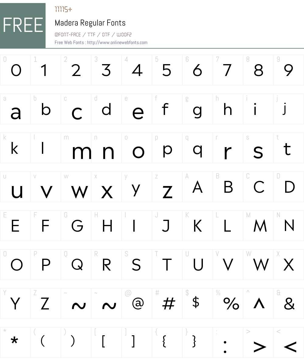 Madera Font Screenshots