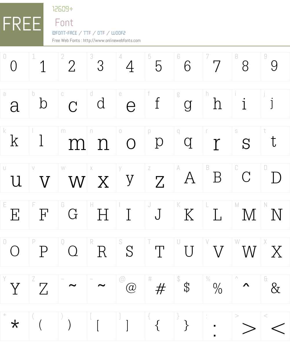 Savanne Font Screenshots
