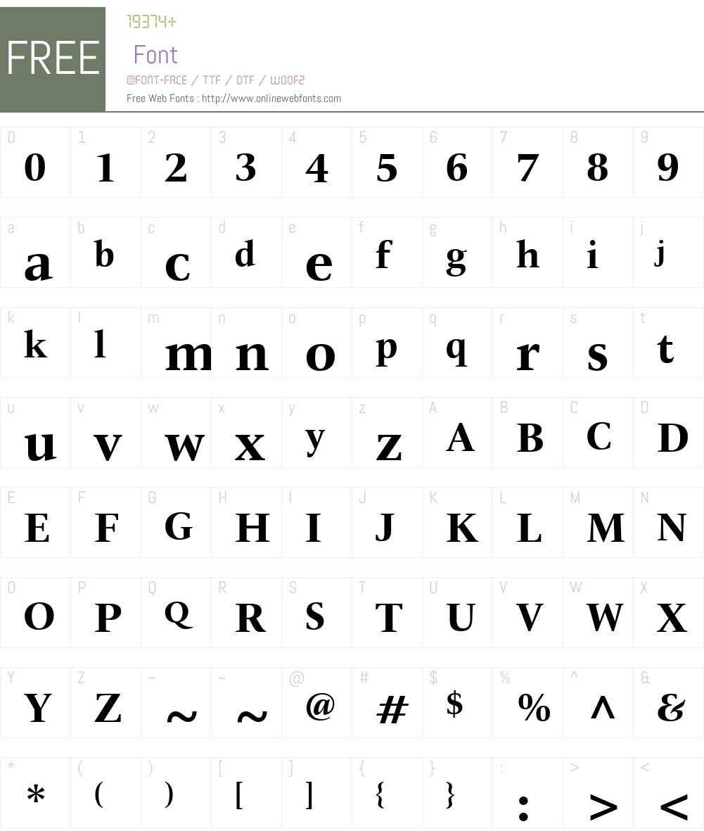 ITCNewVeljovicW01-Bold Font Screenshots