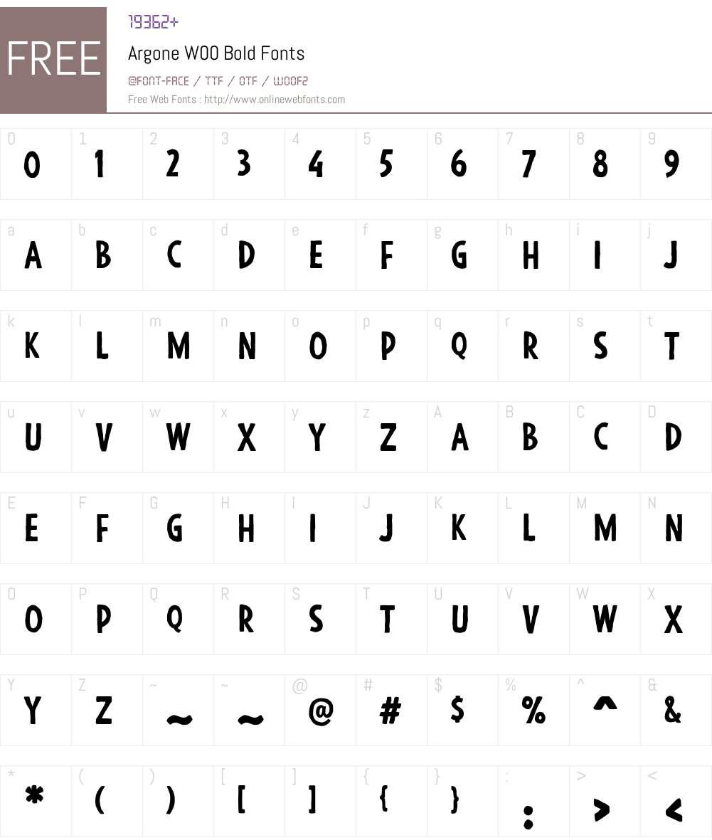 ArgoneW00-Bold Font Screenshots