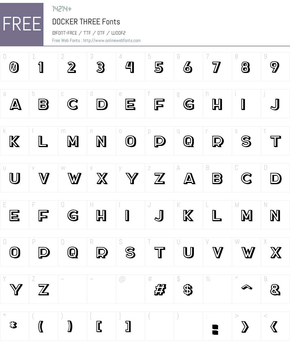 DOCKER THREE 001 000 Fonts Free Download - OnlineWebFonts COM
