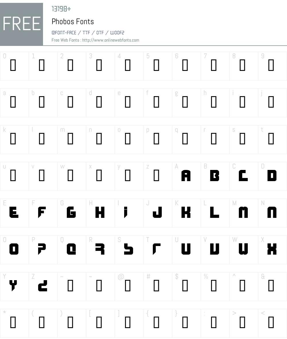 Phobos Font Screenshots