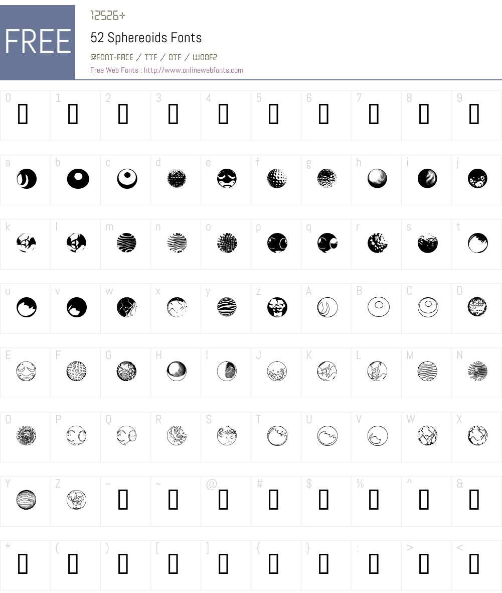 52 Sphereoids Font Screenshots