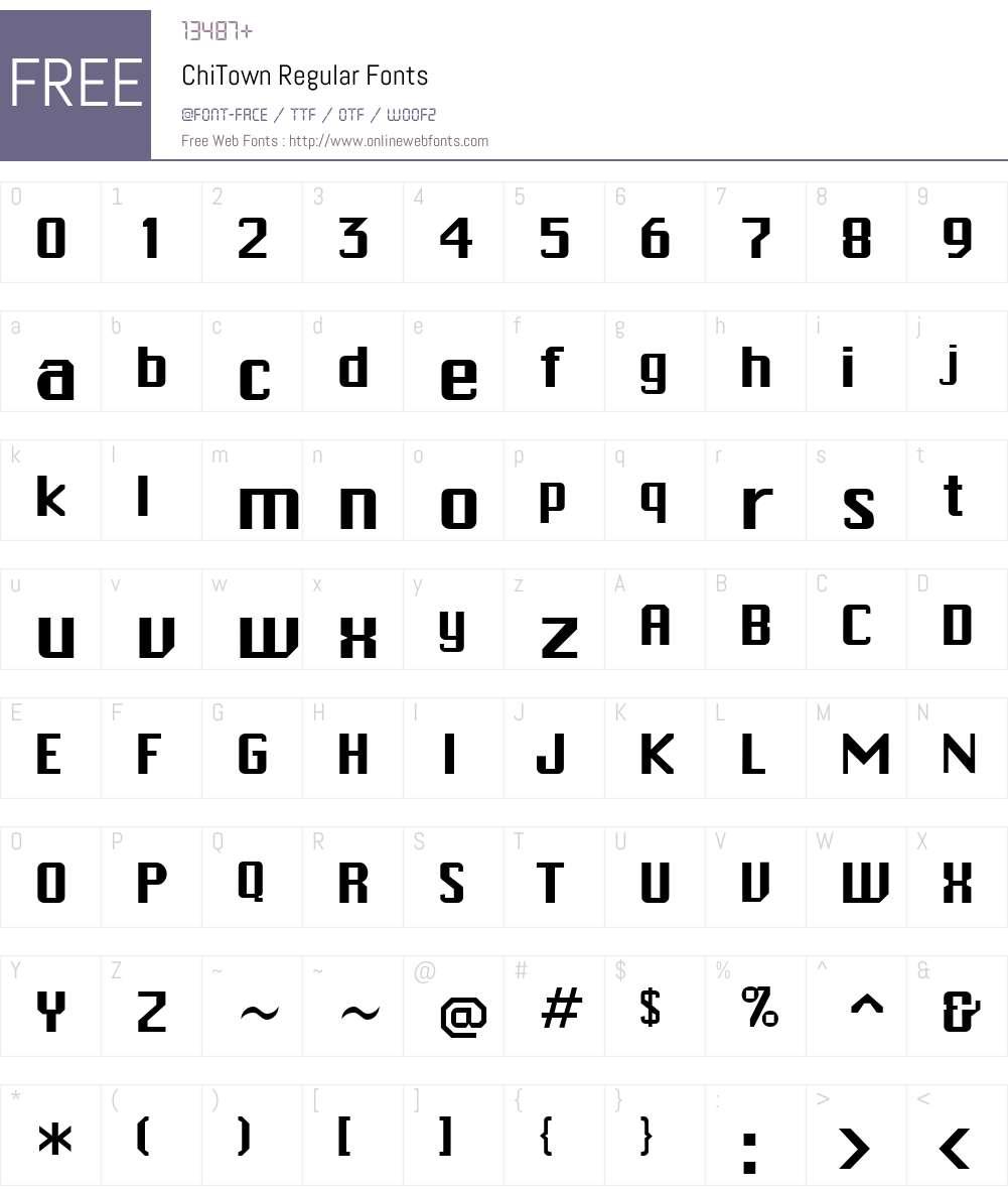 ChiTown Font Screenshots