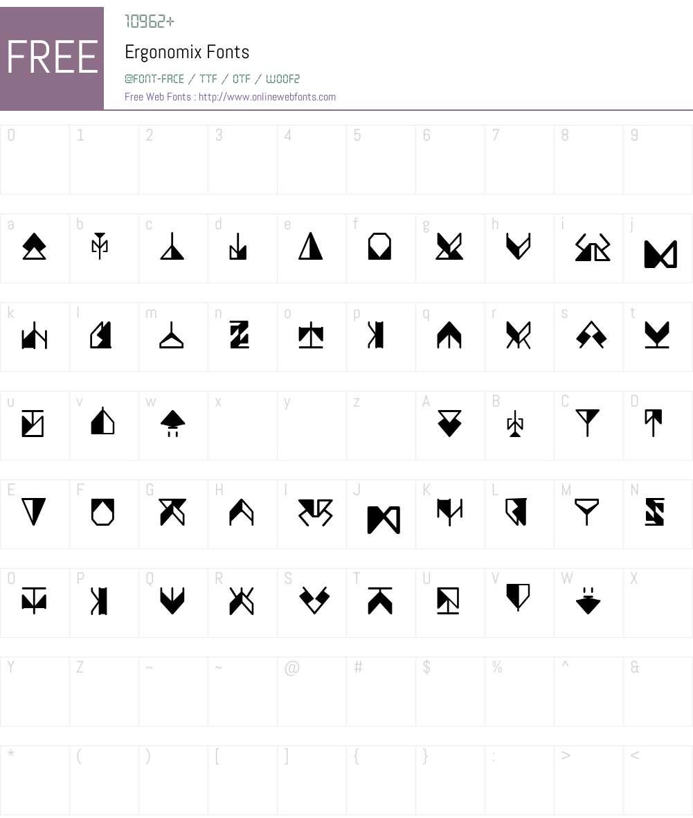 Ergonomix Font Screenshots