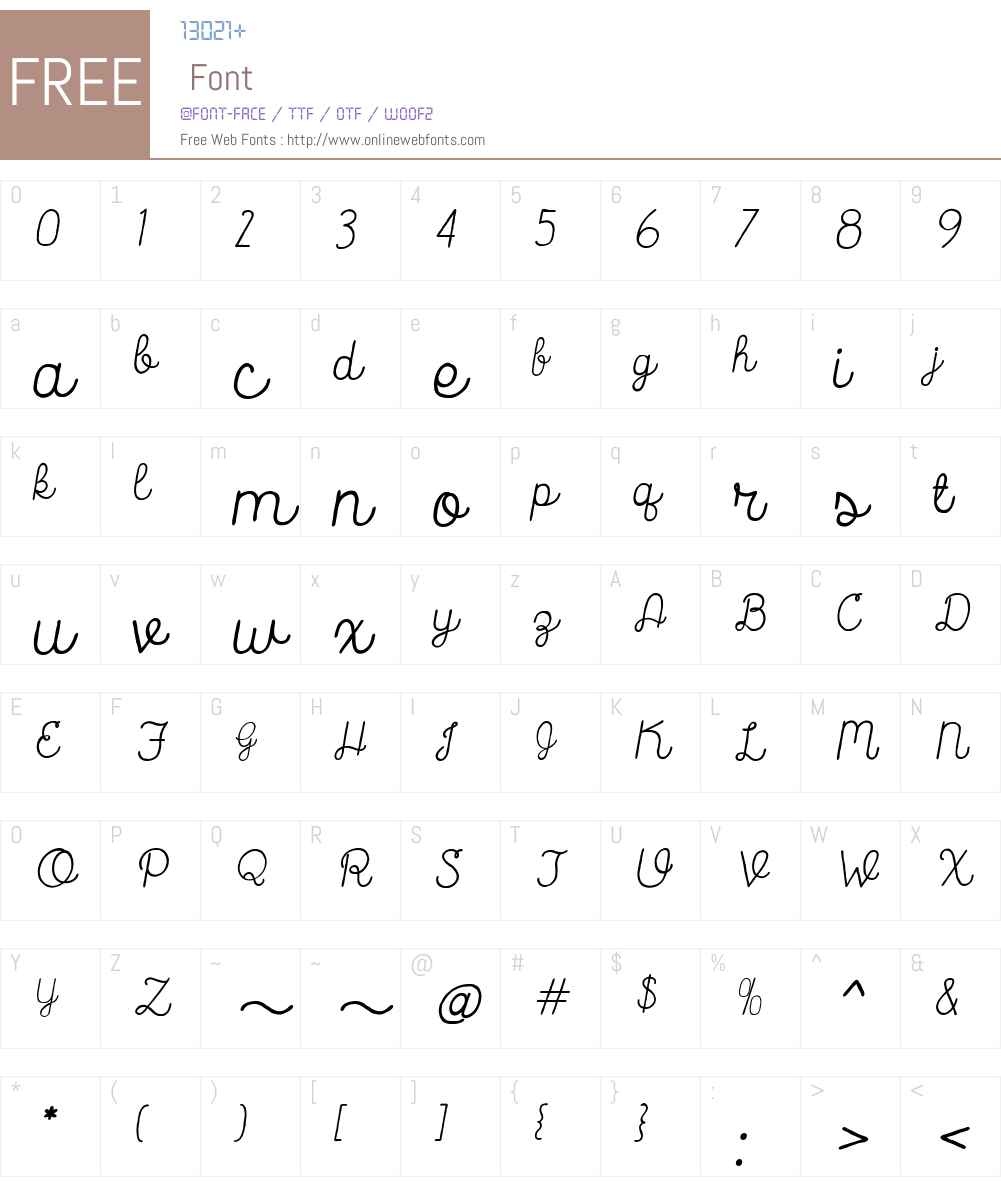 CatalinaScriptW00-Italic Font Screenshots