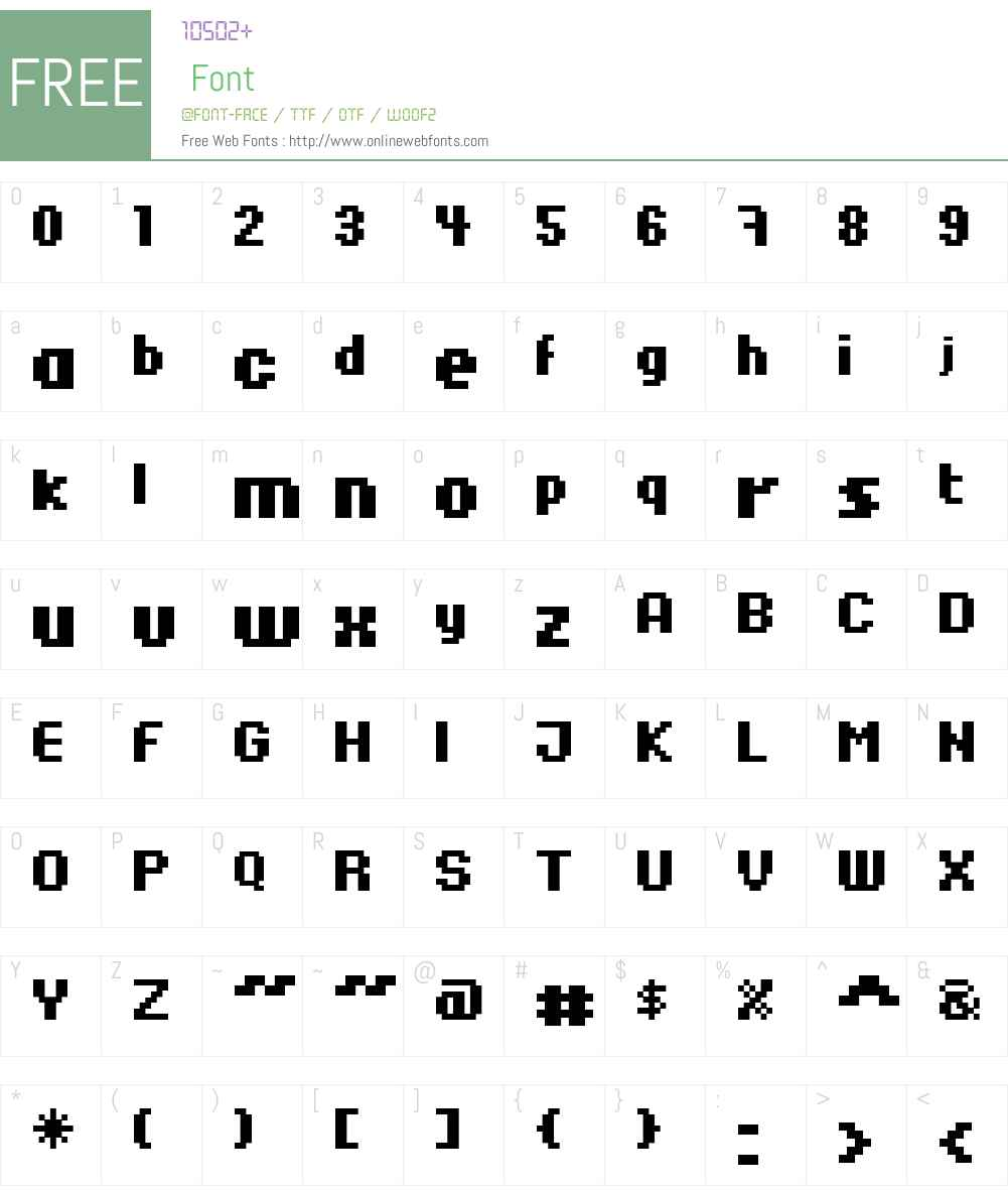 xpdr06 Font Screenshots