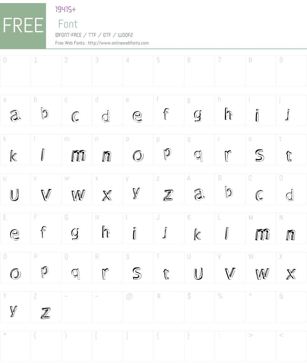 Shutdown! Font Screenshots
