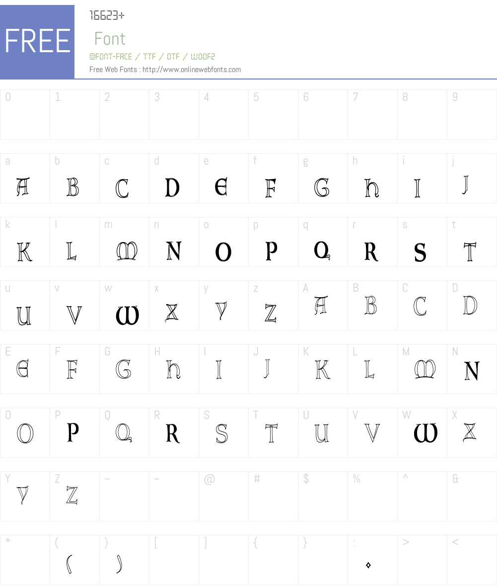 Lombardic-NormaHC Font Screenshots