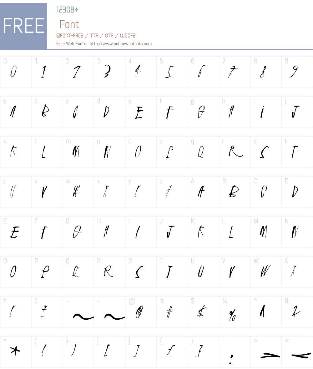 Rhinoceros Font Screenshots
